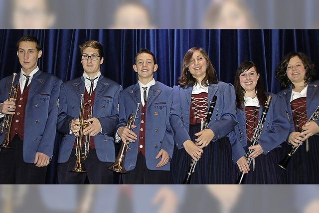 Jungmusiker im Konzert
