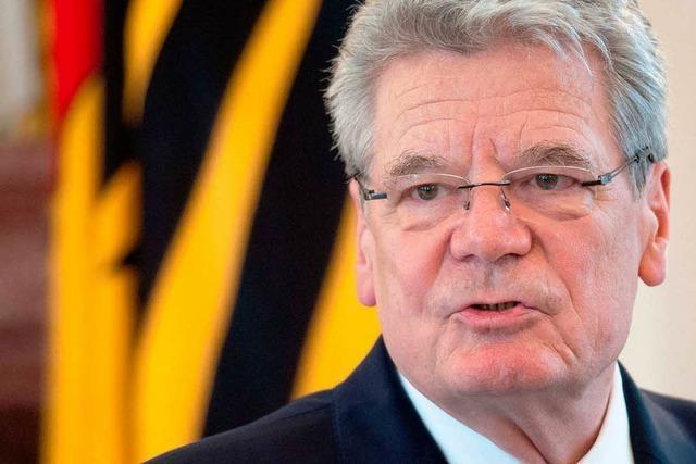 Bundespräsident Gauck besucht Gengenbach
