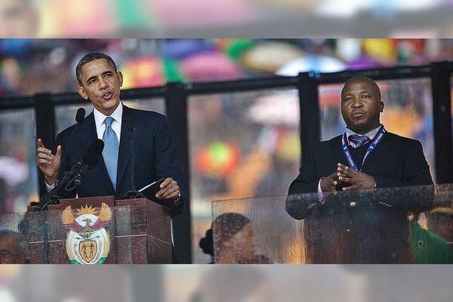Der Dolmetscher der Mandela-Trauerfeier empört weltweit