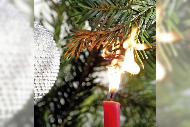 Advent, Advent, das Wohnzimmer brennt