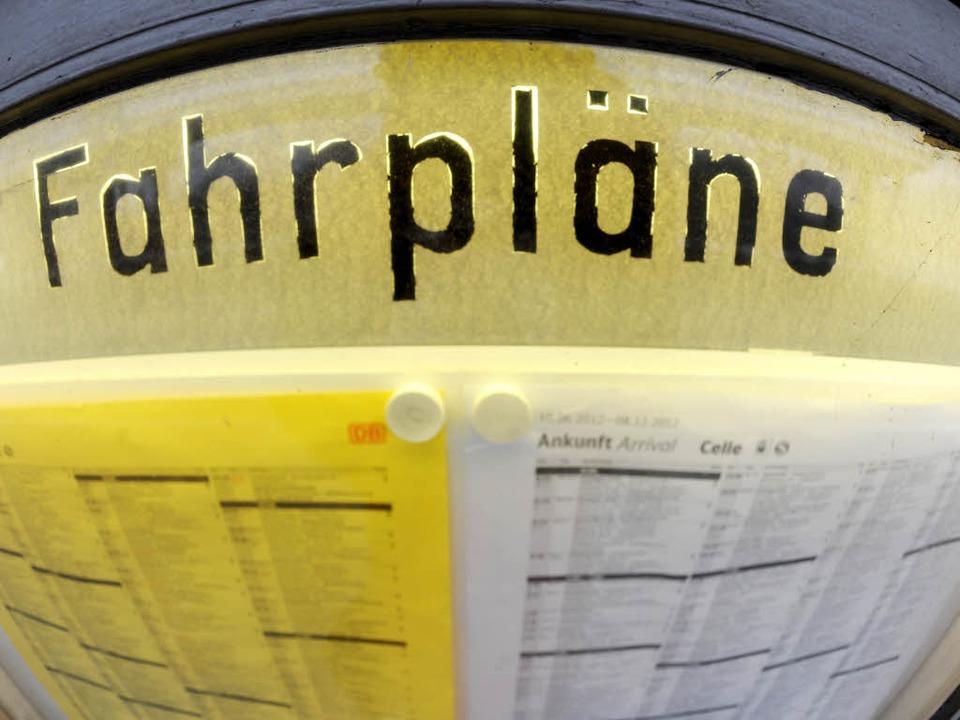 Ist ein Fahrplan einmal erstellt, wird nur wenig geändert.  | Foto: dpa