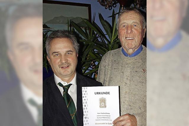 Siegfried Dietzig seit 60 Jahren Sportschütze