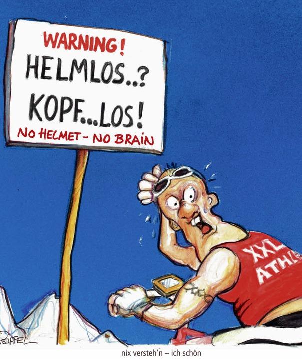 Ein Radler-Cartoon von Thomas Zipfel. ...omepage www.thomaszipfel.de bestellen.  | Foto: Thomas Zipfel