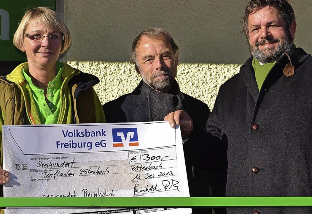 MdL Reinhold Pix (rechts) hatte mit ei...ese Facchinetti und  Helmut Büchele).   | Foto: Schilling