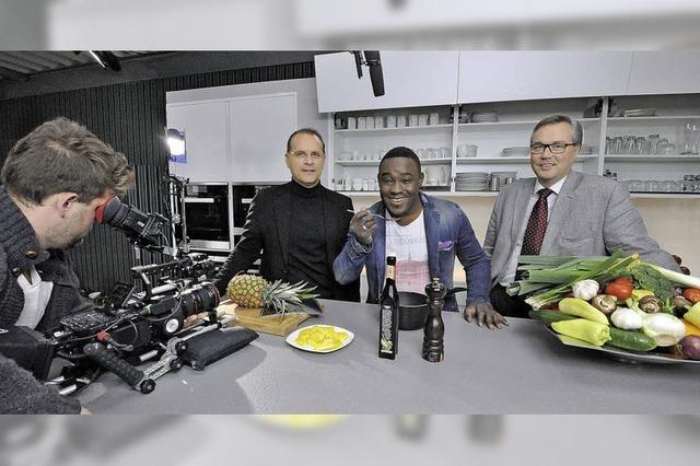 Das Küchen- wird zum Fernsehstudio
