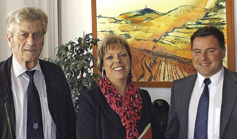 Die SPD-Landtagsabgeordnete Sabine Wöl...ann Kaspar (links) und Markus Hermann.  | Foto: Privat