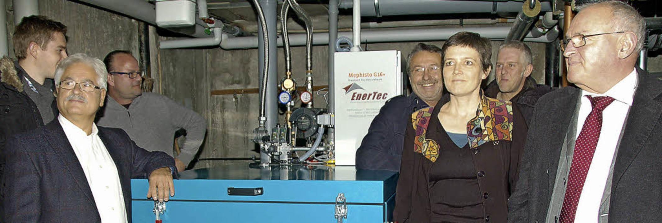 Strom aus dem Keller / Erstes Wohngebä...delfingen mit stromerzeugender Heizung  | Foto: Andrea Steinhart
