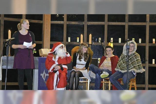 Nikolaus und Santa Claus in der Kirche
