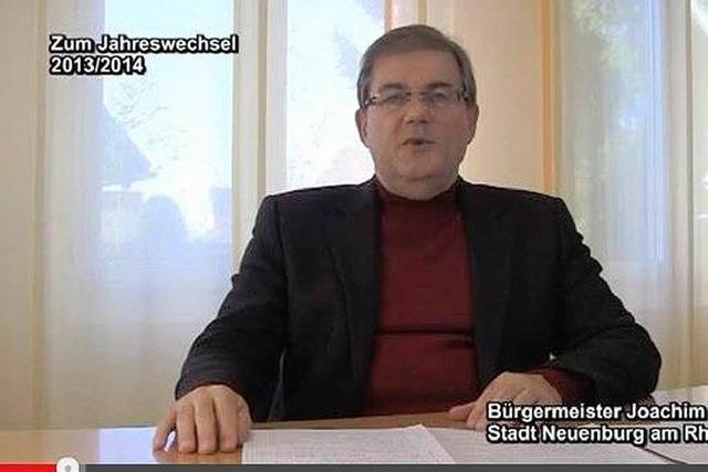 Neuenburgs Bürgermeister sendet Ansprache auf Youtube