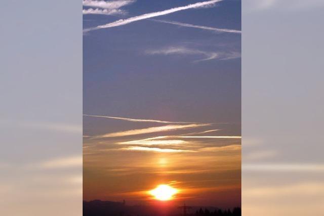 Sonne scheint Rekordzeit