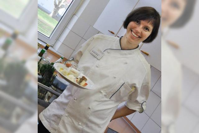 Lauch-Birnen-Gorgonzola-Tarte als Vorspeise