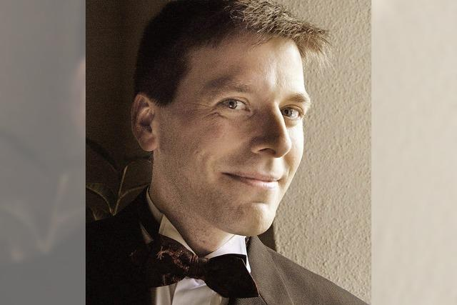 Der Organist Christoph Bogon spielt in Hasel