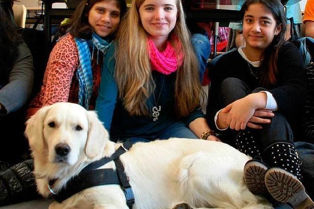 Schulhund lehrt Kinder Rücksichtnahme