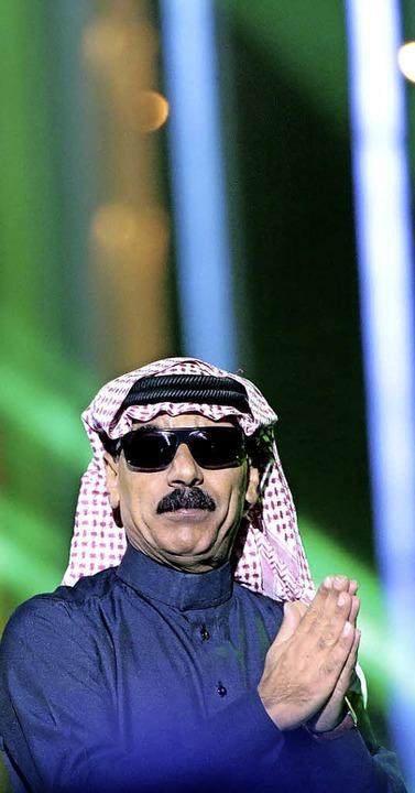 Omar Souleyman bei einem Konzert in Oslo.   | Foto: AFP
