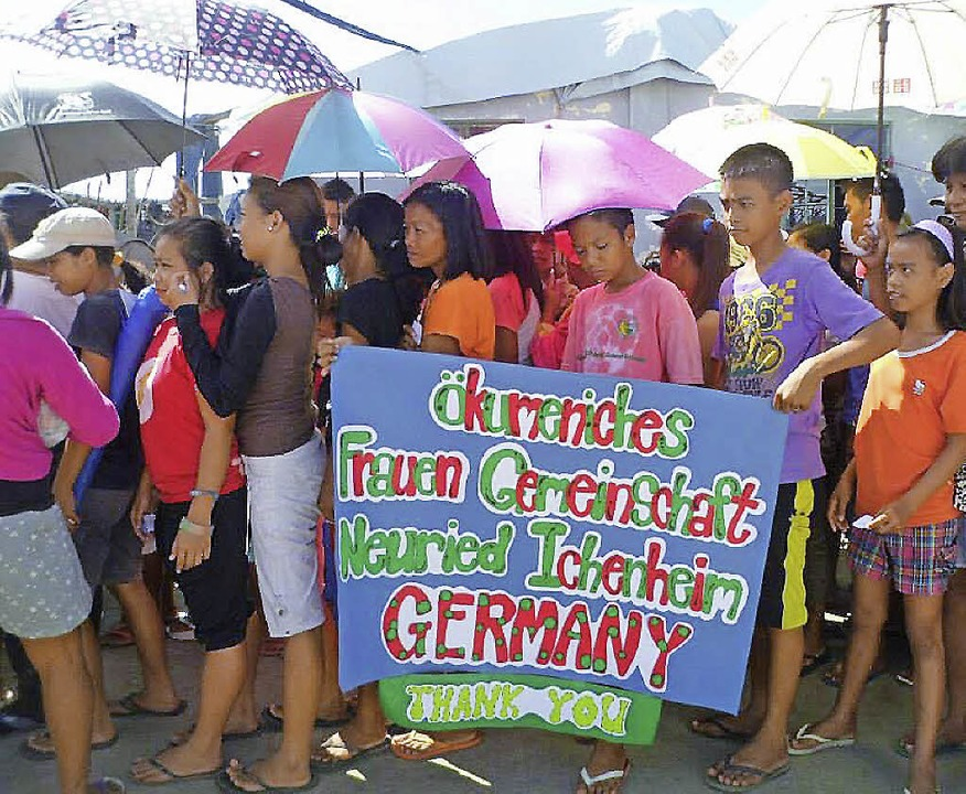 Die Menschen auf den Philippinen haben... Unterstützung aus Ichenheim bedankt.     Foto: Privat