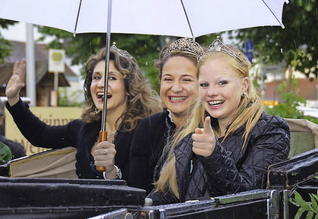 Für die  Badische Weinkönigin Aurelia ...G Hügelheim ein Empfang ausgerichtet.   | Foto: Sigrid Umiger