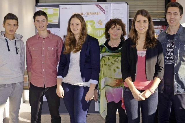 Fünf Schüler gründen ihre eigene Bank des Südens