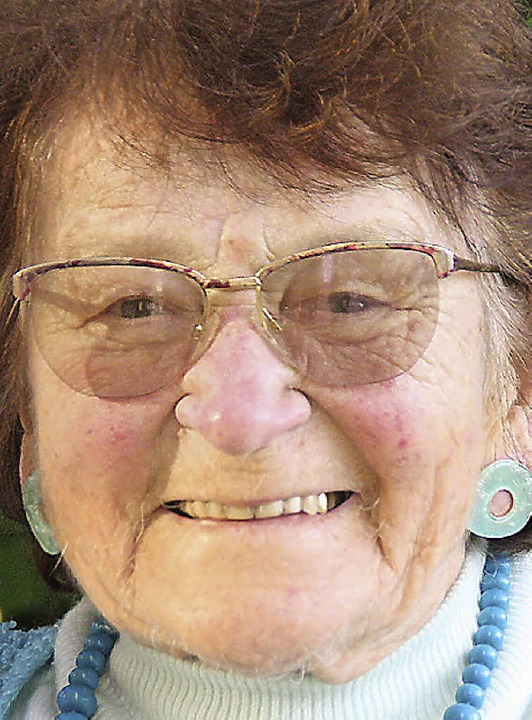 Liesel Duffner starb im Alter von 91 Jahren.    Foto: H. Birkle