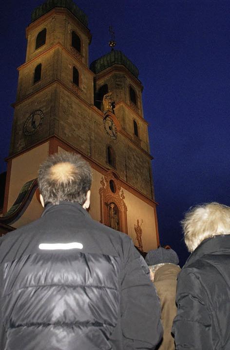 Gebannt lauschten viele Säckinger dem Turmblasen.  | Foto: Hrvoje Miloslavic