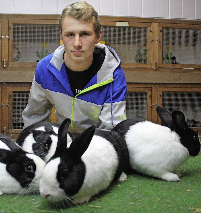 Deutscher Jugendmeister der Kleintierz...Banholzer und seine fantastischen Vier    Foto: Jörn Kerckhoff