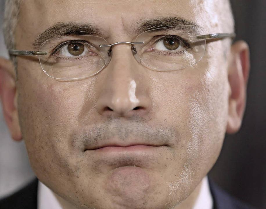 Michail Chodorkowski in Berlin   | Foto: DPA