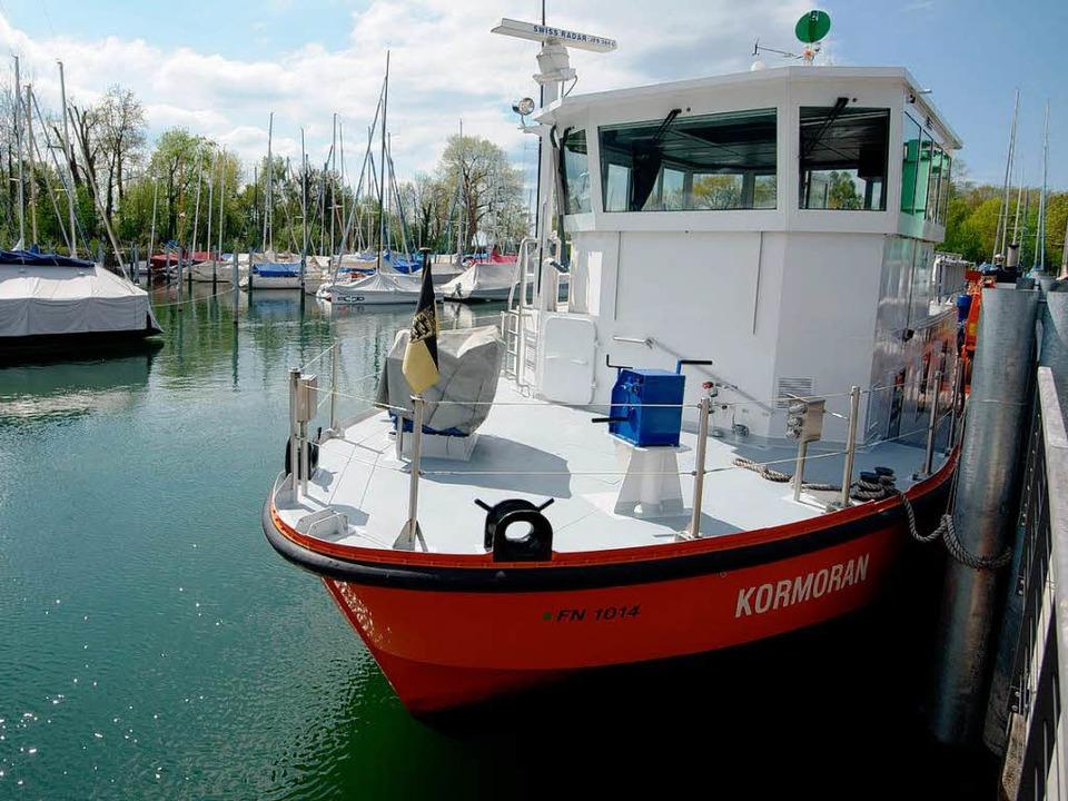Das Forschungsschiff Kormoran des Inst...hung  in Langenargen im Bodenseekreis   | Foto: dpa