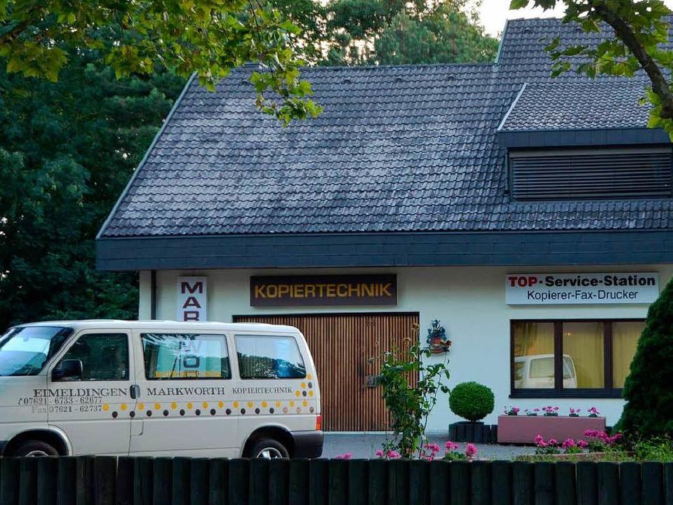 Die Eimeldinger Firma Markworth Kopier...14 in der WKS in Lörrach-Brombach auf.  | Foto: Langelott