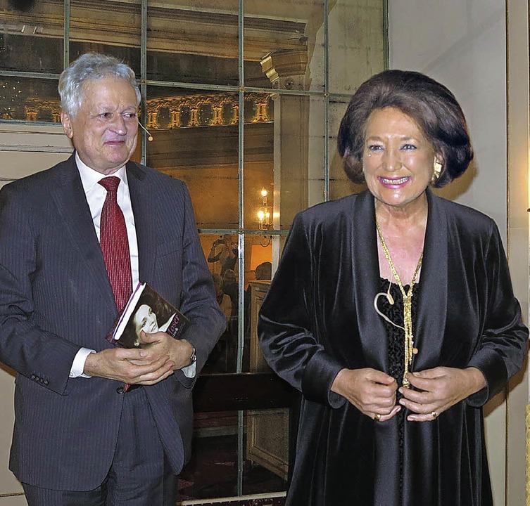 Manfred Osten hatte beim letzten Römer...die Sängerin Edda Moser (75) zu Gast.   | Foto: Dorothee Philipp