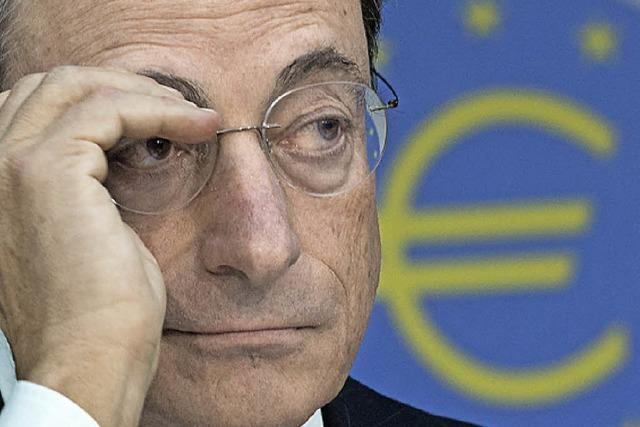 Draghi ärgert sich über die Deutschen
