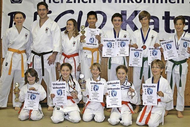 Karatekas des SV Kappel präsentieren sich in Bestform