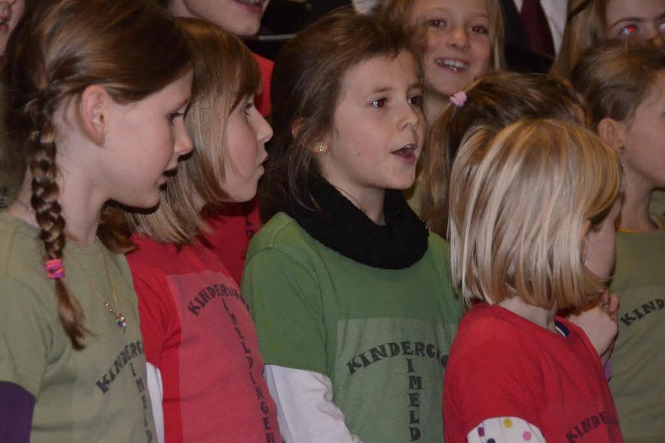 Beim Neujahrsempfang sing der Kinderchor. (Foto: langelott)