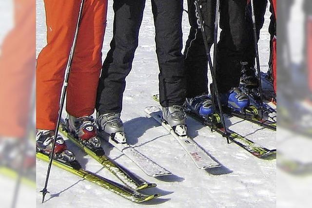 Unterwegs auf Skiern