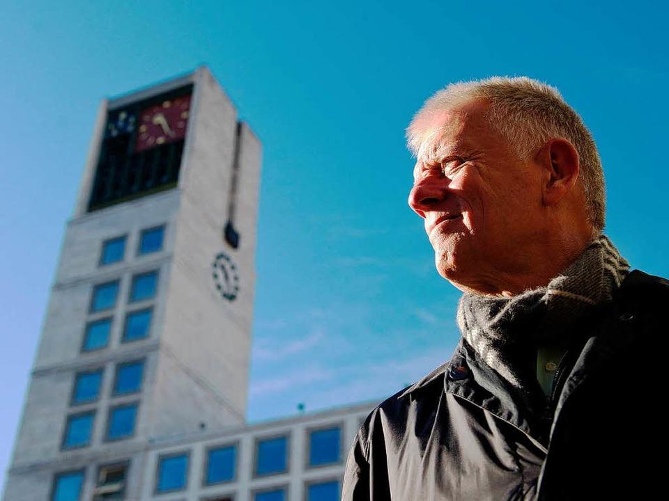 Der Rathaus der Landeshauptstadt &#821...einem Jahr ist ein Grüner der Hausherr  | Foto: dpa