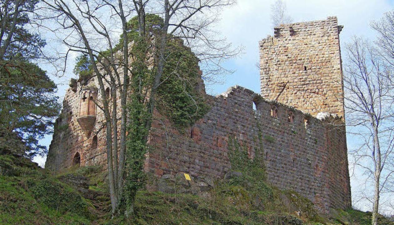 Die Burg Landsberg am Odielienberg mit dem gut erhaltenen Erker    | Foto: Rolf Müller