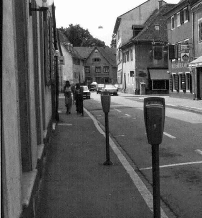 Das war einmal: Parkuhren in der Lammstraße.   | Foto: Dieter Rottler