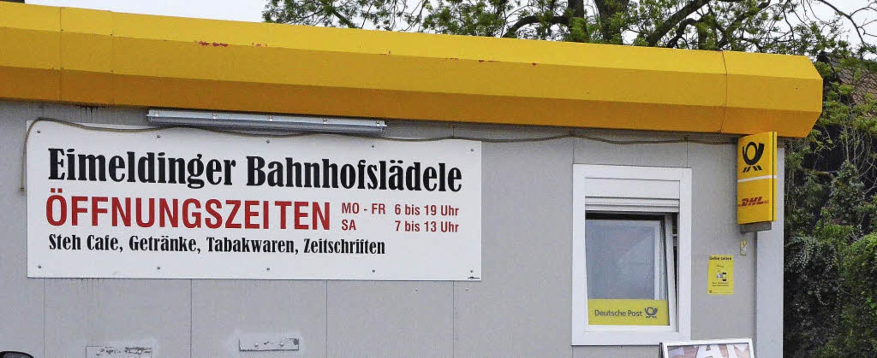 Dass für den  Bahnhofsladen   keine Bl...at Merstetter viel Sympathie gekostet.    Foto: langelott