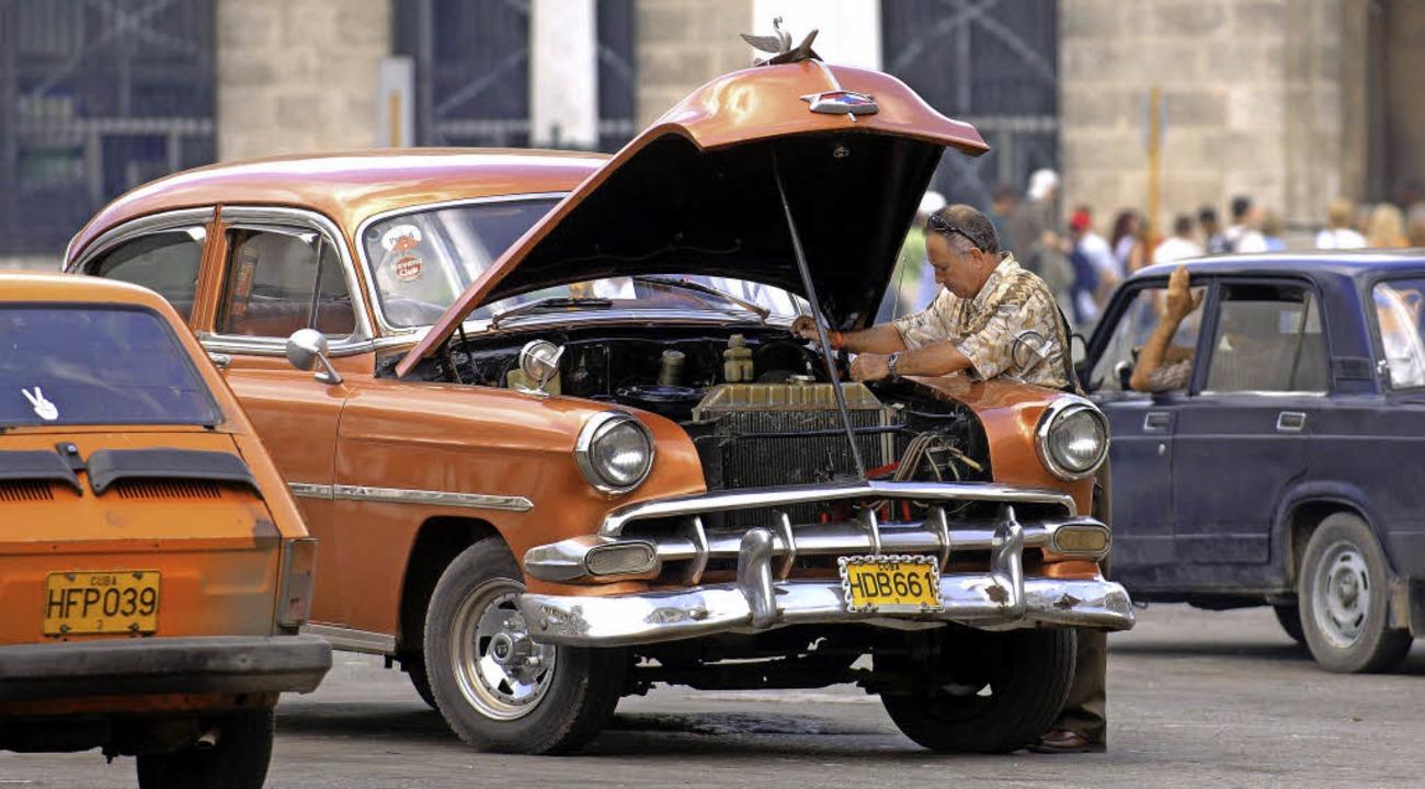 Und was wird jetzt aus den legendären Oldtimern auf Kuba?   | Foto: dpa