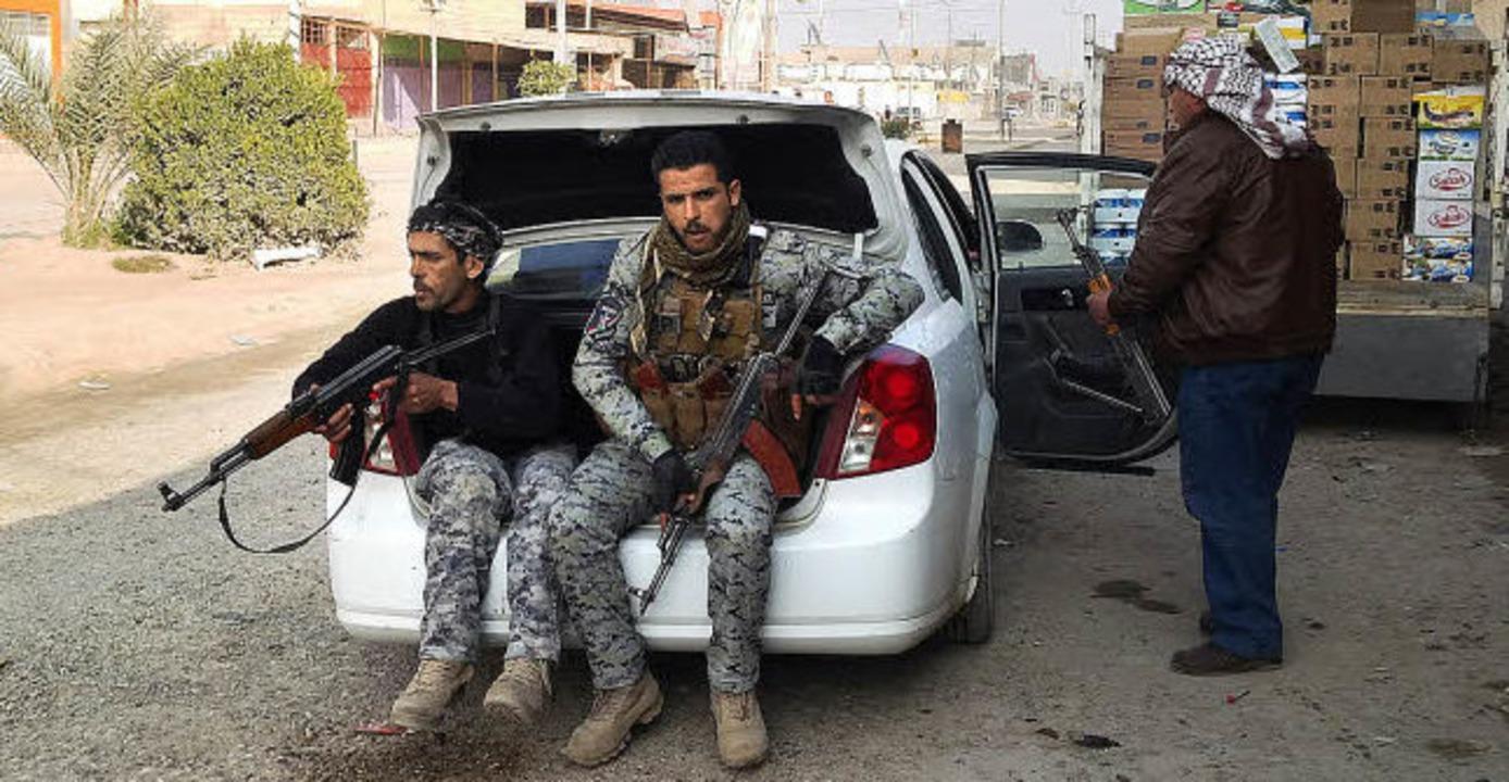 Polizisten in Ramadi, wo es erneut zu Kämpfen mit al-Qaida kam.   | Foto: AFP