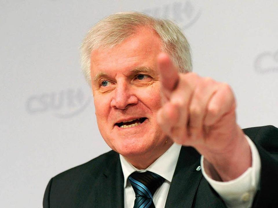 Der CSU-Parteivorsitzende Horst Seehofer.  | Foto: dpa