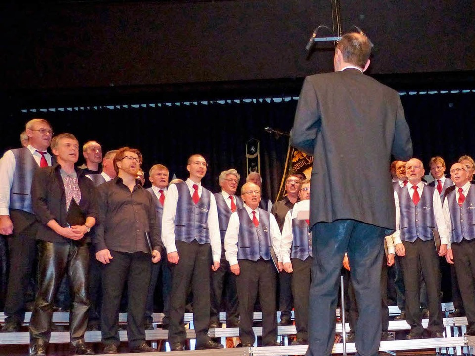Der Männergesangverein Oberried.  | Foto: Barbara Odrich-Rees