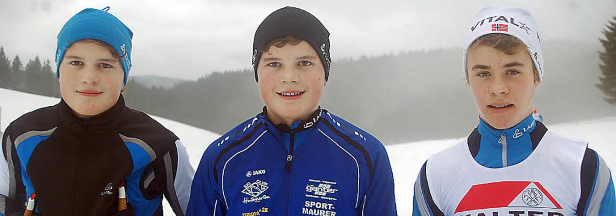 Das Trio des SC Hinterzarten mit  Björ...i den Schülern Staffelbezirksmeister.   | Foto: Junkel