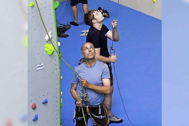 Klettern macht Spaß und verbrennt Kalorien