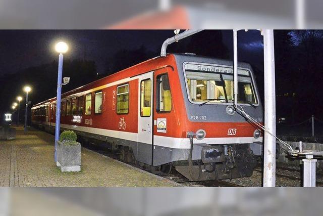 Werbung für Kandertal-S-Bahn