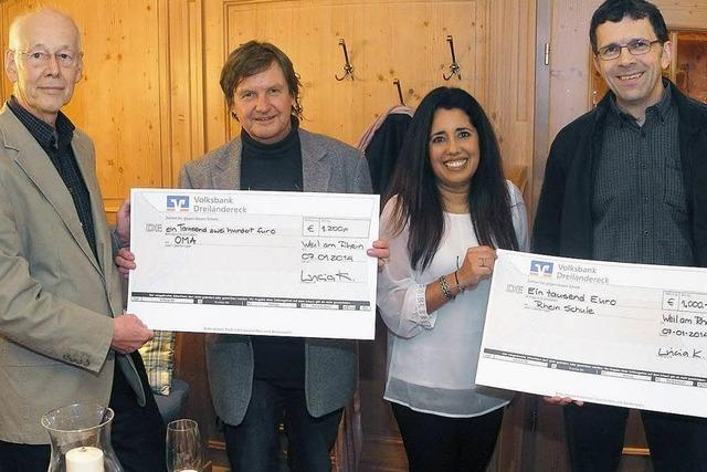 Lions Club unterstützt Projekte der Rheinschule