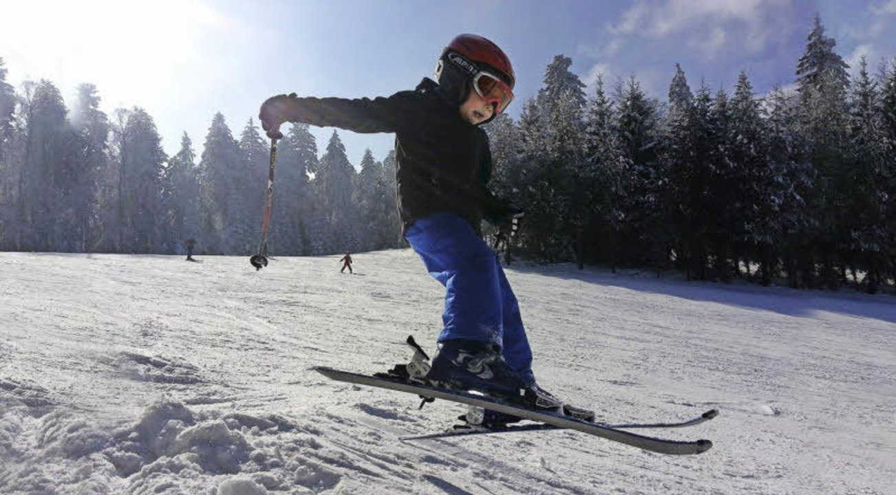Ganz schön abgehoben – im Skizentrum Enzklösterle  | Foto: Sebastian Köhli