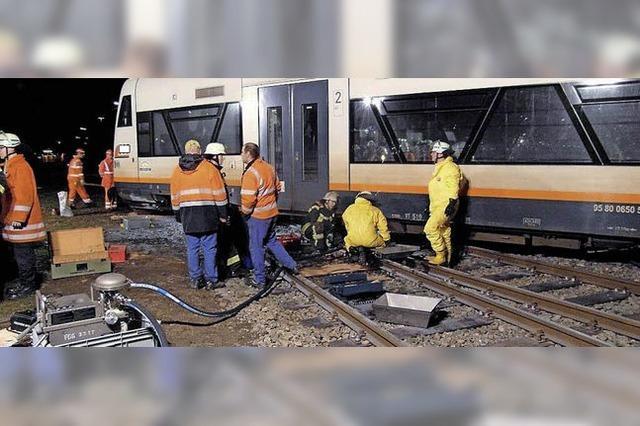Ortenau-S-Bahn entgleist beim Rangieren