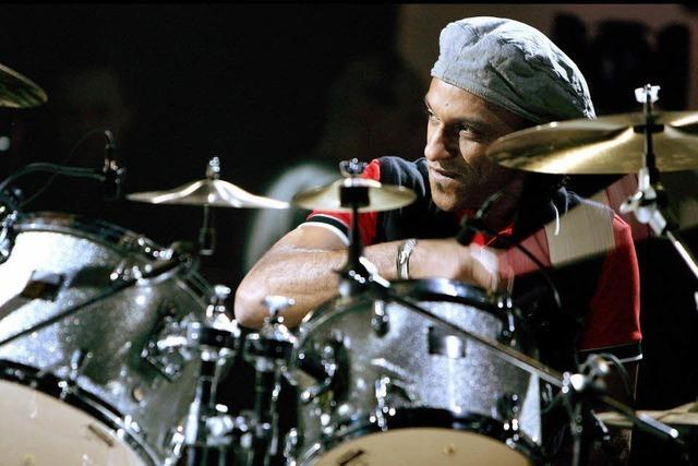 Drummer Manu Katché in Lörrach