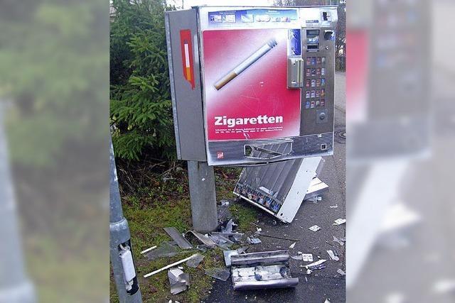 Automat aufgesprengt