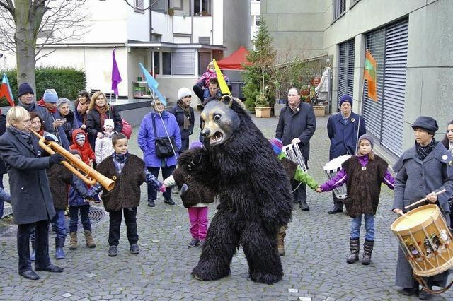 In Basel ist heute der Bär los