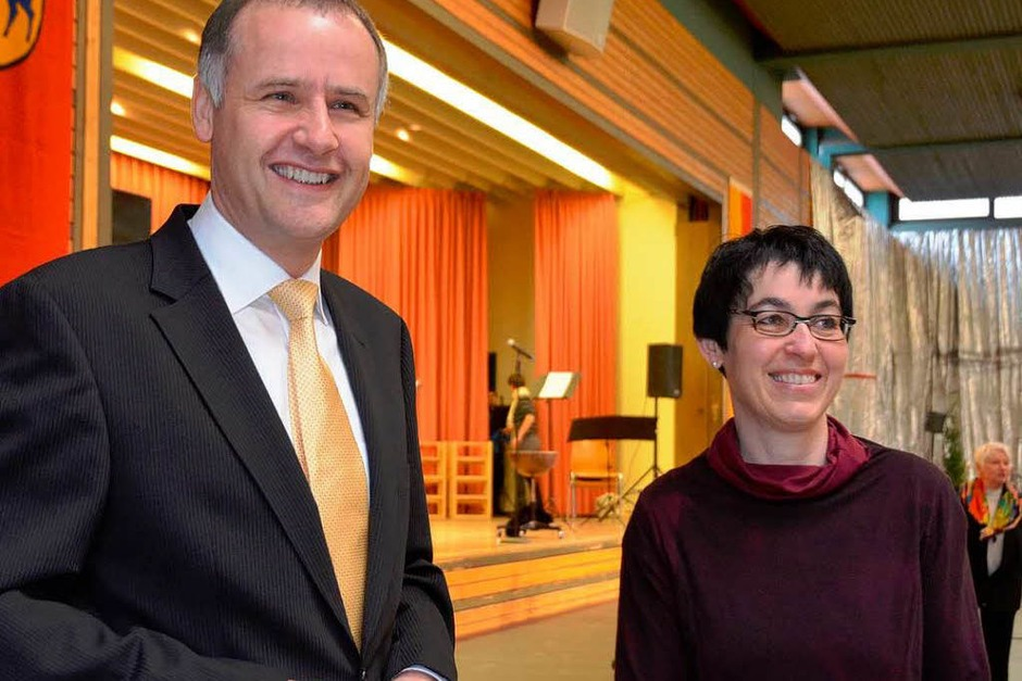 Bürgermeister Thomas Breig und seine Frau Susanne freuen sich über die Resonanz auf den Empfang (Foto: Andrea Gallien)